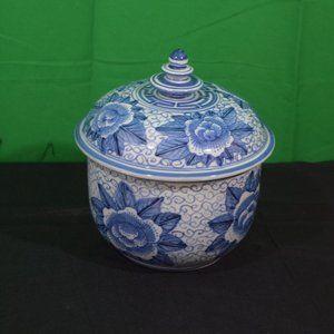 Oriental, lotus flower delph blue,